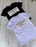 """Футболка жіноча літнє з натуральної тканини бавовна з написом """"Givenchy"""", 2 кольори р. 42-46 код 757Г, фото 7"""