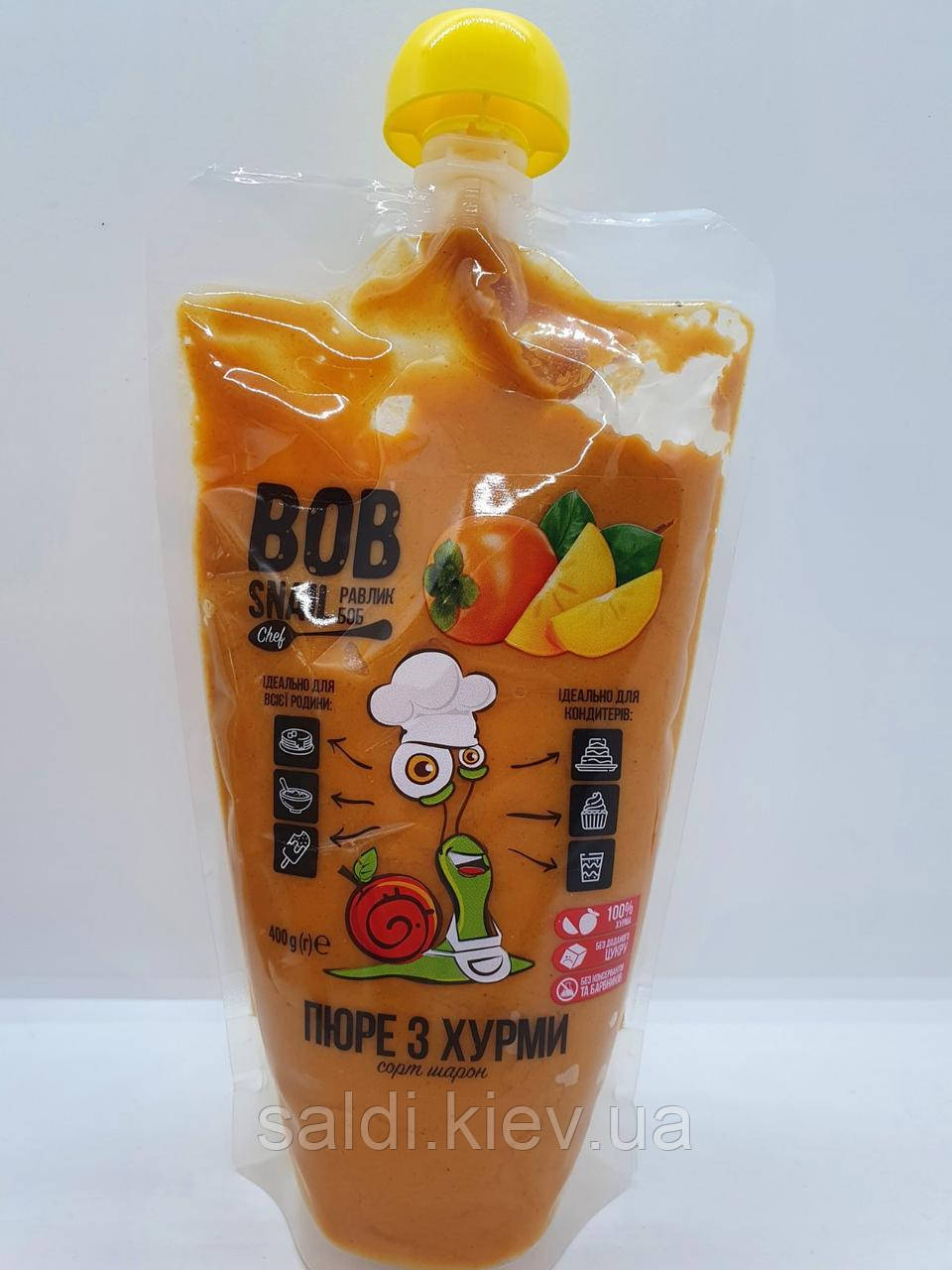 Пюре из Хурмы без сахара Bob Snail (400 грамм)