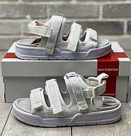 New Balance Sandal Reflective White | сандалии / босоножки женские; белые; рефлектив; летние; на липучках