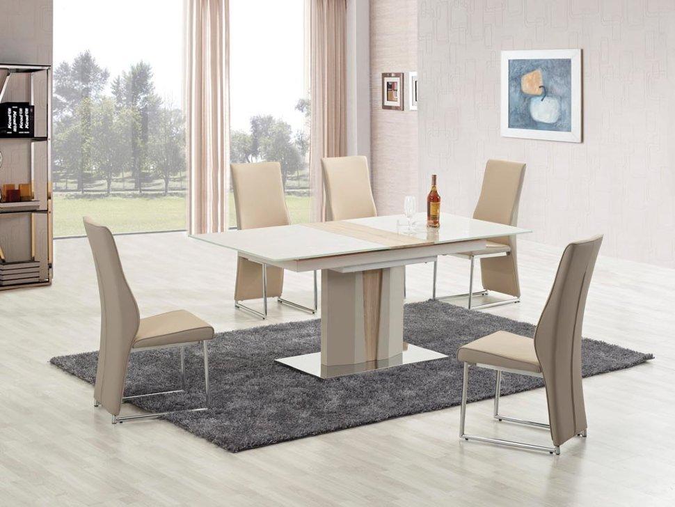 """Скляний стіл """"Cameron"""" від Halmar 150*90см"""