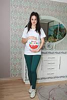 "Футболка ""киндер"" для беременных 7878-1, фото 1"