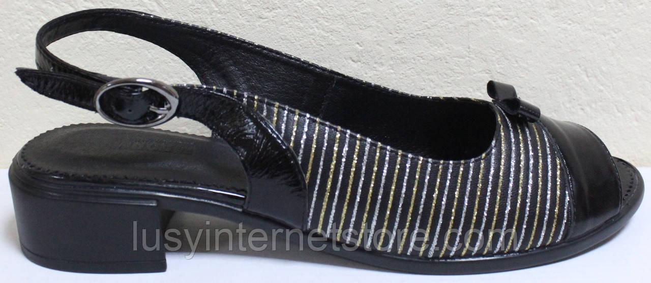 Босоножки кожаные на каблуке большого размера от производителя модель МИ3987-13