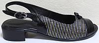 Босоножки кожаные на каблуке большого размера от производителя модель МИ3987-13, фото 1