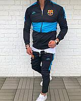 Спортивный костюм клубный мужской темно-синий Nike Barcelona