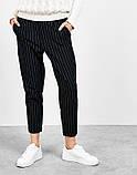 Модные брюки в полоску вертикальную укороченные норма, два цвета р.42,44,46 код 753Г, фото 4