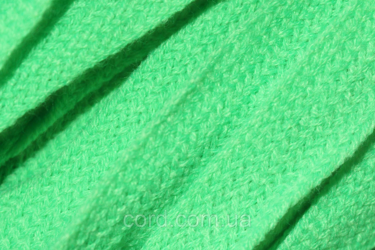 Шнур плоский тесьма акрил 15мм (50м) зеленый