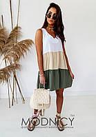 Стильное платье  5253,15 ХАКИ ЦВЕТ