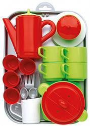 Набор Chef-Cook с посудой и подносом 31 акс, Ecoiffier 18м+ (000972)