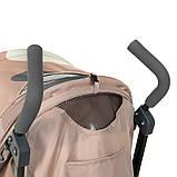 Прогулочная коляска Bambi M 4244 BEIGE. Родительская ручка 103см. Размер: 76х48х106 см. Нагрузка до 25 кг., фото 6