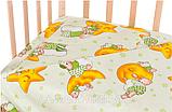 Набор в кроватку 9в1 с подпорой для балдахина и постельным  бельем Голд Украина. Хлопок. 1279, фото 2