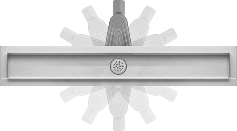 Душевой слив в ванную из нержавеющей стали с поворотным сифоном Fala Snake 800 мм New
