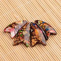 Набор искусственных реголитовых бусин стрела коричневого цвета для рукоделия