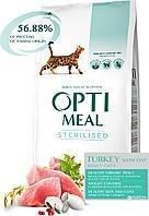 Optimeal Оптимил для кастрированных котов и стерилизованных кошек 4кг
