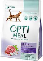 Optimeal Оптимил с уткой 4 кг вывеление шерсти для кошек