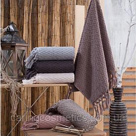 "Полотенце махровое баня.  Vip Cotton ""SAÇAKLI ""KAPADOKYA"" :: Sikel. 70*140. Турция. Плотность: 500 г/м2"