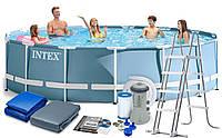 Каркасный бассейн, бассейн большой каркасный Intex 28242, фильтр насос 3785 л/ч, 457 х 122 см 11/336.6