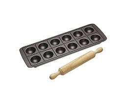 Форма для равиоли KitchenCraft WFIT и деревянной качалкой Черный (166807)