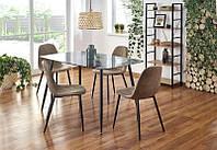 """Скляний стіл """"Next"""" від Halmar 130*80см (чорний), фото 1"""