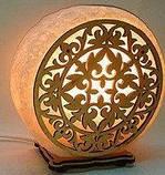 Соляной светильник круглый Узор 2, фото 3