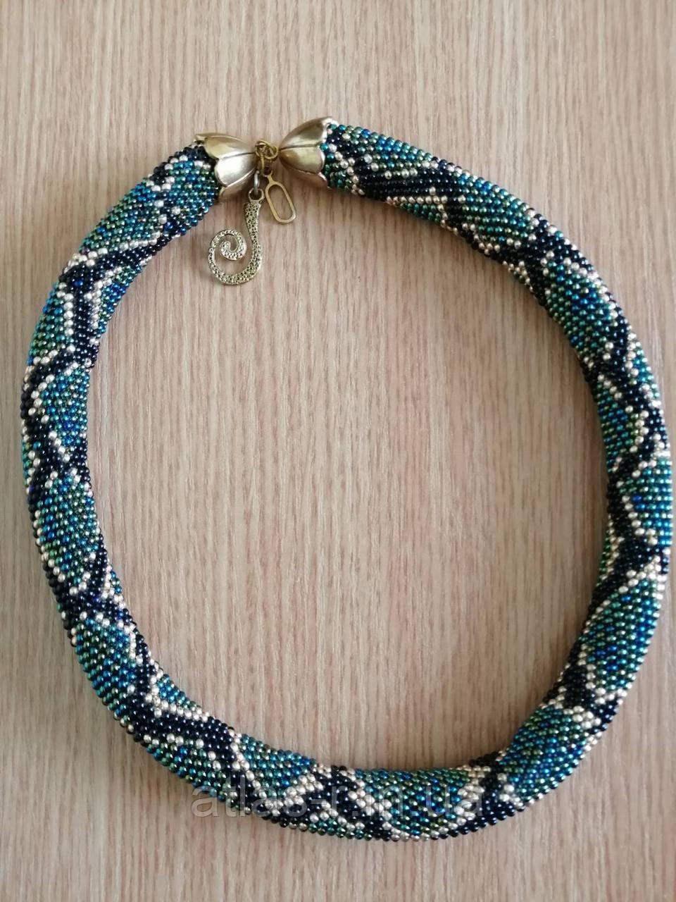 Ожерелье-жгут змея ручной работы