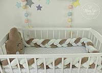 Бортики в ліжечко , захист в дитяче ліжечко , бортики в кроватку  , бортик косичка 2301