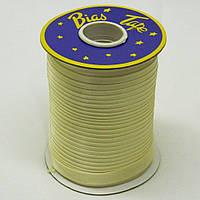 Косая бейка Super 3003 атласная 1.5 см х 100 м Молочная Bios-3003, КОД: 1314950