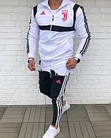 Спортивный костюм клубный мужской черно-белый Adidas FC Juventus
