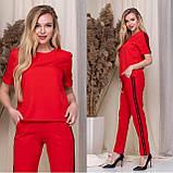 Летний женский спортивный костюм, футболка с брюками, стильно и удобно, 4 цвета, р.42-44; 44-46 код 120Р, фото 3