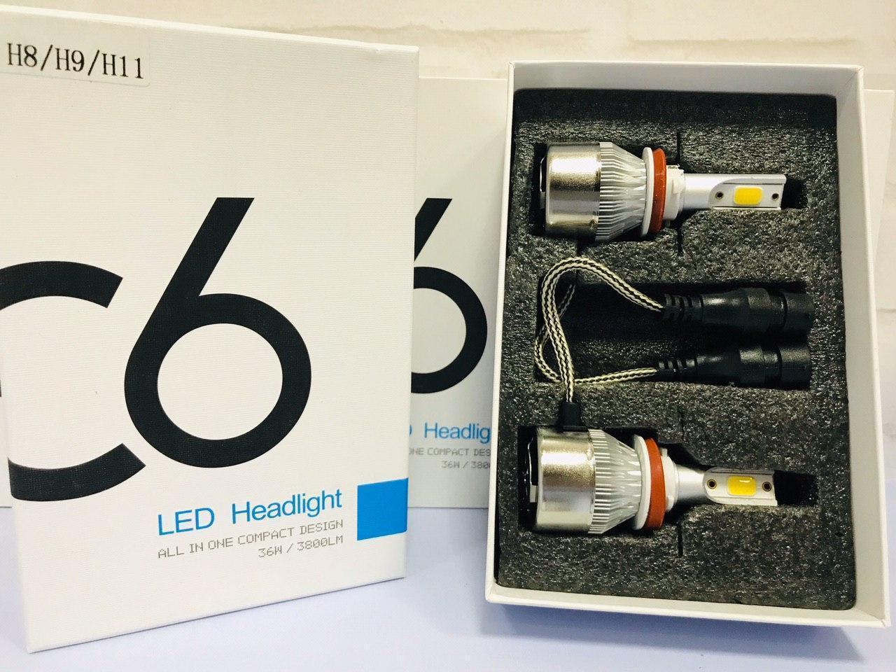 Новые Супер Яркие Автолампы LED (лед) Цоколь H11