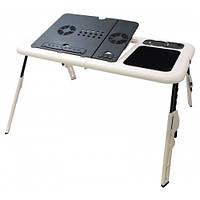 Столик для ноутбука MHZ с двумя USB кулерами Черно-белый (001118)