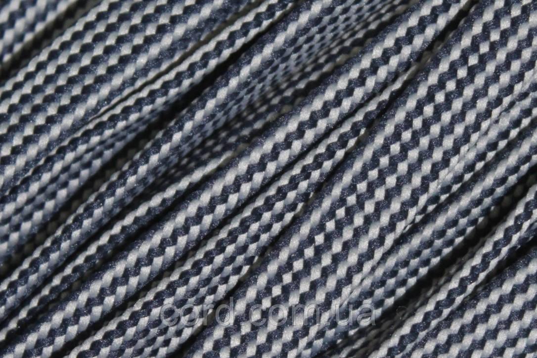 Шнур плоский чехол 15мм (50м) синий + светло серый