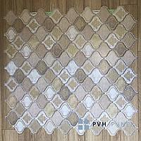Декоративная Пластиковая Панель ПВХ Регул Восточный Орнамент Бежевый 915*507 мм