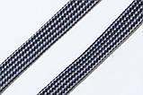 Шнур плоский чехол 15мм (50м) синий + светло серый, фото 2