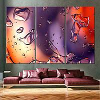 Картина - Капли - 3 части из стекла
