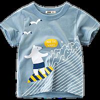 Футболка для мальчика Кататься на волнах 27 KIDS