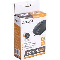 Мишка A4-tech OP-730D Black-USB чорна, дротова, оптична, 1000 dpi, з двойним кліком, USB 1.5 м