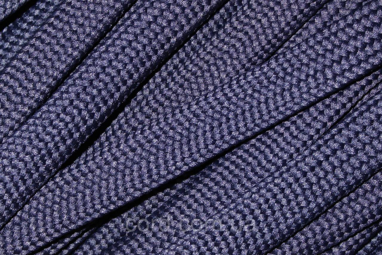 Шнур плоский чехол 15мм (50м) синий