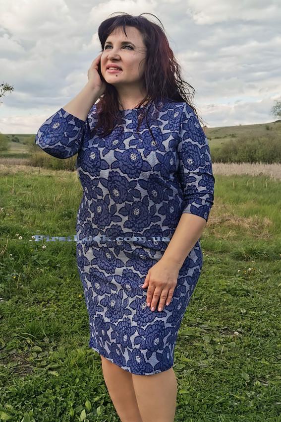 Женское платье трикотажное(с 50 по 56 размер)