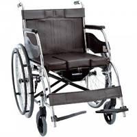 Складна інвалідна коляска з санітарним оснащенням OSD-H003B