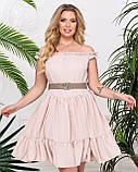 Платье женское летнее с открытыми плечами и А-образном крое, 4 цвета р.42-46, 48-50,52-54, код 1234Х, фото 3