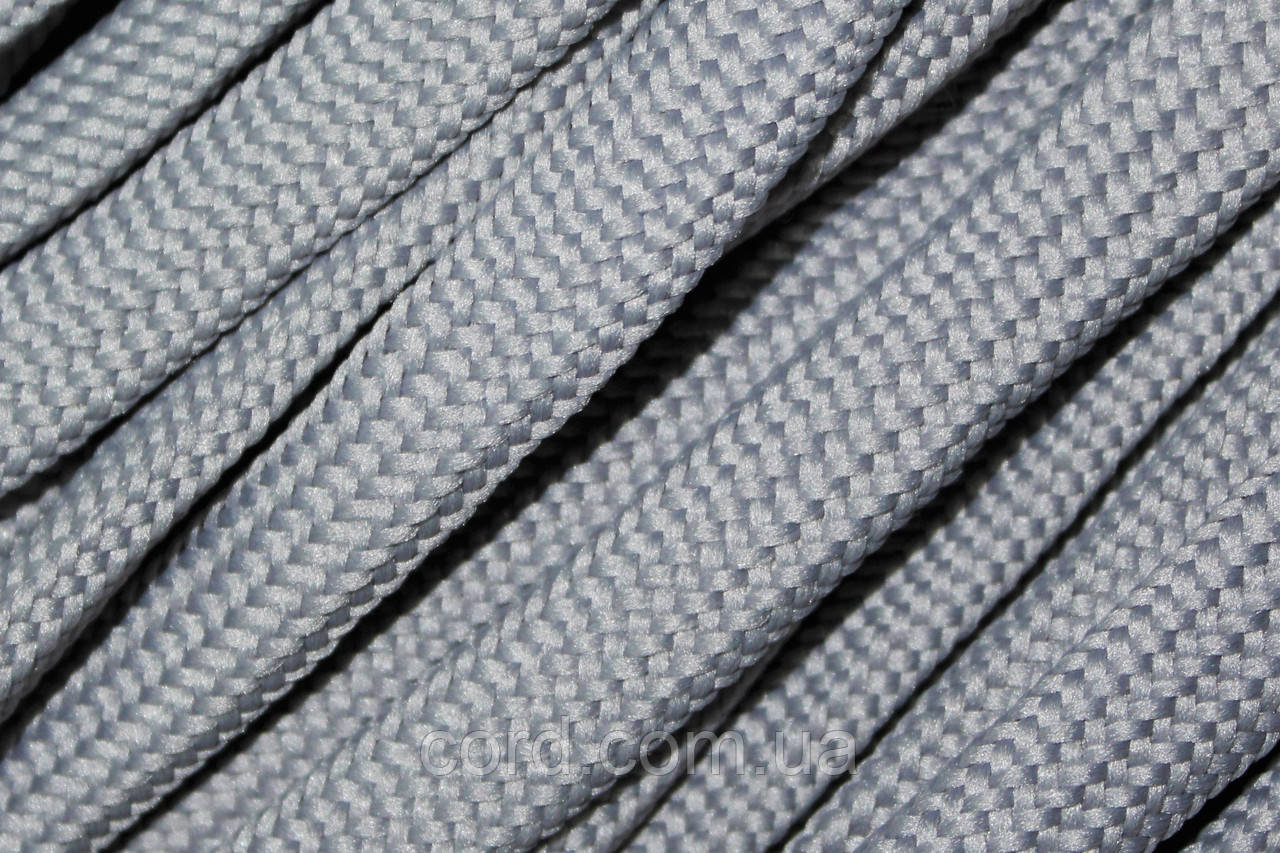 Шнур плоский чехол 15мм (50м) светло серый