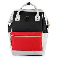 Сумка - рюкзак для мамы Красно - черный ViViSECRET