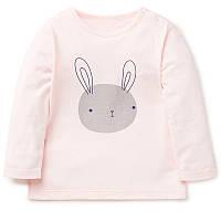 Лонгслив для девочки Кролик, розовый Jumping Beans