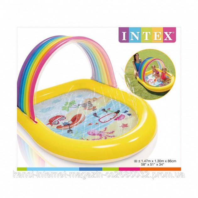 Дитячий надувний басейн Intex 57156 Веселка