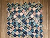 Декоративная Пластиковая Панель ПВХ Регул Восточный Орнамент Синий 915*507 мм