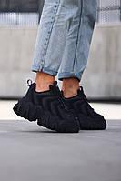 Стильные женские кроссовки Eytys Halo Black, фото 1