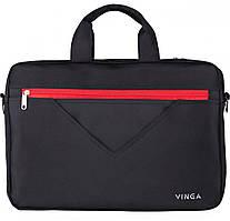 """Сумка для ноутбука 15,6"""" VINGA NB250BR Black / Red (NB250BR)"""