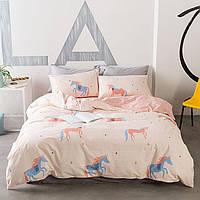 Комплект постельного белья Единорог (двуспальный-евро) Berni