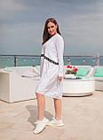 Сукня комбіноване з двох тканин спортивного стилю з кишенями, р. 54-58,60-64 код 1225Х, фото 2