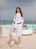 Сукня комбіноване з двох тканин спортивного стилю з кишенями, р. 54-58,60-64 код 1225Х, фото 3